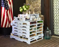 Wooden Patio Bar Ideas by This Upcycled Outdoor Bar Was Made From Old Wooden Pallets Fresh