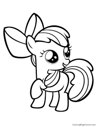 Applejack Coloring Book My Little Pony Apple Bloom Page Pages Printable And Activities Full Size