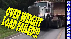 100 Weight Of A Semi Truck Truck Lose Uphill Battle Hauling Over Weight Load VLOG YouTube