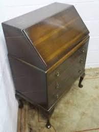 bureau furniture utility furniture mahogany fall front writing bureau with 3 large