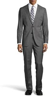 hugo plaid suit hugo glen plaid stretch wool two suit medium gray