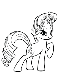 Pony Coloring Pages Free My Little Page Para Sparkle Printable Rarity