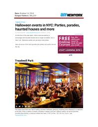 Halloween Haunt Worlds Of Fun 2014 Dates by Am New York Archives Treadwell Park Upper East Side New York Nyc