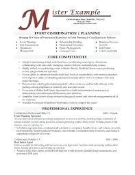 Computer Management Resume Examples And Event Planner Template Free Samples For Create
