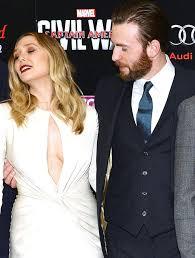 Elizabeth Olsen And Chris Evans At The Premiere Of Captain America Civil War Vue