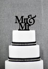 Mr And Same Sex Wedding Cake Topper Traditional Elegant Toppers In Your Choice Of Color Modern 2224690