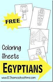FREE Ancient Egyptian Coloring Sheets