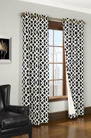 Grey Geometric Pattern Curtains by Total Fab Modern Black And White Geometric Themed Bedding And