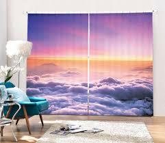 tapisserie pour bureau mignon nuages ciel 3d blackout rideaux pour salon literie chambre