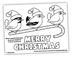 Birdorable Christmas Coloring Page