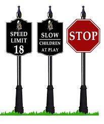 RV Park Street Signs