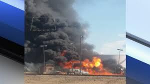 100 Tanker Truck Explosion Truck Catches Fire Near Kingman Airport