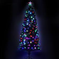 Black Fibre Optic Christmas Tree 7ft by Led Fiber Optic Christmas Tree With Star 210cm