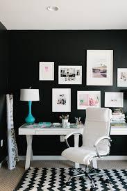 black and white desk contemporary den library office jws