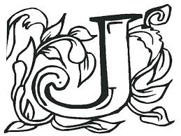 Full Image For Letter J Coloring Sheets Preschoolers Art Page