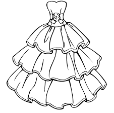 Princess Dress Coloring Pages Colouring Book
