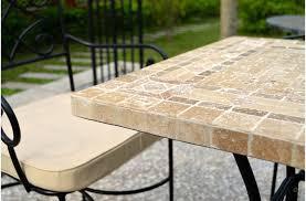 table ronde mosaique fer forge table de jardin mosaique et fer forge jsscene des idées
