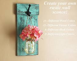 Rustic Wall Decor Mason Jar Sconce Dorm