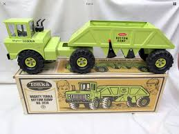 Early 70s Mighty Tonka No.3938 Bottom Dump - Pressed Steel Toy ...
