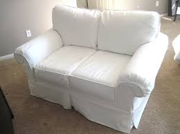 Rowe Nantucket Sofa Cover by Furniture Sure Fit White Slip Covered Sofa Bed With Two Cushions