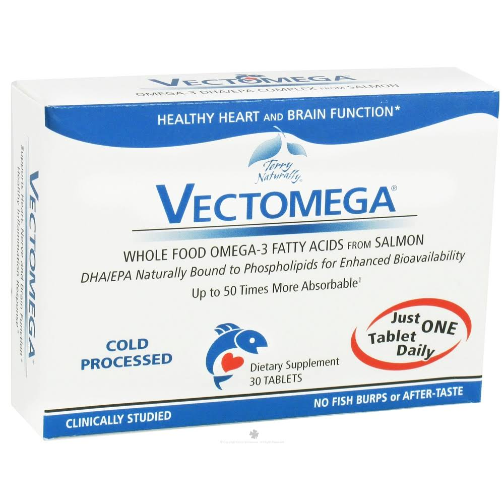 Vectomega Whole Food Omega 3 Suplement - 30 Tablets