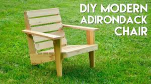 Folding Adirondack Chair Woodworking Plans by Diy Modern Adirondack Chair How To Build Woodworking Youtube