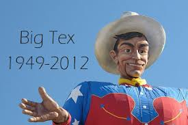 It Was Going To Be His 60th Birthday But Yesterday Big Tex The 52 Foot Tall Statue A Reduced Charred Metal Frame