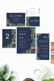 Pink And Navy Wedding Invitations Invitation Invite Stationery Watercolour Floral Florals Flowers Handpainted Beautiful Australia