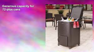 Suncast Patio Storage And Prep by Suncast Dccw3000 Resin Wicker Cooler Youtube
