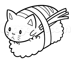How To Draw Sushi Cat
