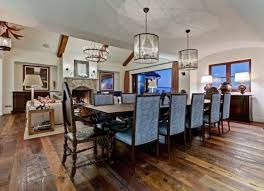 Arched Beam Cathedral Ceiling For A Spacious Dining Room