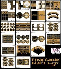 1920 s Party Gatsby Banner Art Deco Birthday Flapper Birthday