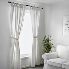 lenda 2 gardinen raffhalter weiß 140x300 cm