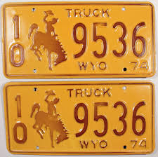 1974 Wyoming Truck License Plates | Brandywine General Store Dmv Classic Vehicle Plate Beef Farmer Car Tag License Plates Cattlemen Truck Tag Deck Plates 1963 Idaho License Brandywine General Store 1974 Wyoming Alberta 1933 Bclass Commercial Truck Plates With Origi Flickr More The Auto Blonde Car Tahiti Fileillinois B Platejpg Wikimedia Commons Just Married Printed In Rear Window Of Yellow Pickup Truck With Luv Custom Vanity 2018 Jeep Wrangler Forums Jl Jt