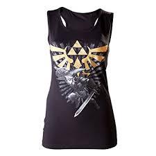 zelda triforce link girls top black amazon co uk clothing