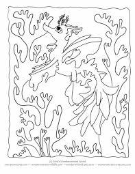 Seaweed Coloring Pages To Download And Print For Free