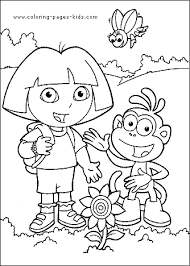 Dora The Explorer More Free Printable Cartoon Character Coloring Pages