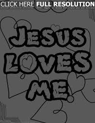 Jesus Loves Me Coloring Page Pdf Full Size