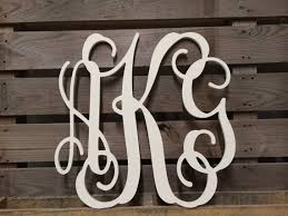 Painted Monogram Extra Wall Letters 30 Cursive
