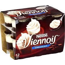 desserts viennois chocolat nestlé nestlé les 12 pots de 100 g