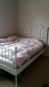 leirvik bed frame ikea leirvik bed frame white leirsund 160x200 cm in lewisham
