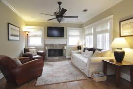 living room gray ceiling fan with l design for
