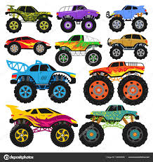 100 Truck Or Car Monster Truck Vector Cartoon Vehicle Or Car And Extreme Transport