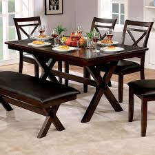 Amazon.com - Furniture Of America Clevelan Dark Cherry Wood 60-inch ... How To Create A Transitional Ding Room Fratantoni Liftyles Transitional Ding Room Set Inc Table With Leaf 4 Side Chairs 2 Intrigue Round Glass Top Table Chairs White 50 Awesome Vintage Living Fniture In Of America Giselle Rooms For 45 Ideas Photos Solid Wood And Set Intercon Balboa Park With Bench Sadlers Steve Silver Lawton Nine Piece Wayside