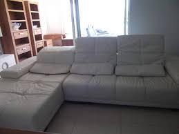 canapé en cuir blanc grand canapé cuir blanc bradé départ annonce meubles et
