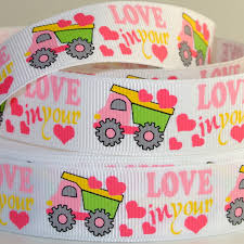 100 Pink Dump Truck 78 Ribbon Ribbons Supplies