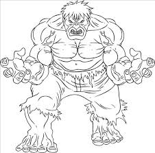 Hulk Very Angry Coloring Pages For Kids Printable