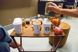 Triple Grande Pumpkin Spice Latte Calories by Starbucks Seasonal Drinks C U0026j Nutrition