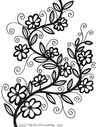 Free Printable Clip Art Borders Flower Mandala Coloring Pages Top Pattern Flowers Sheets