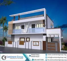 100 Duplex House Design 3d Building Elevation3d Front Elevation Continent Group